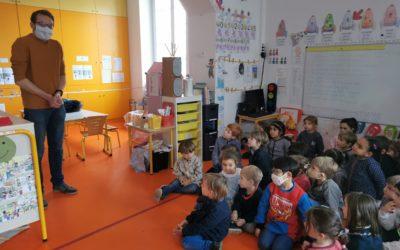 Les maternelles D montent un projet avec la maire de Strasbourg !